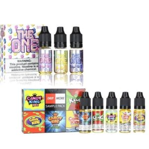 The one and Candy King eJuice Sample pack