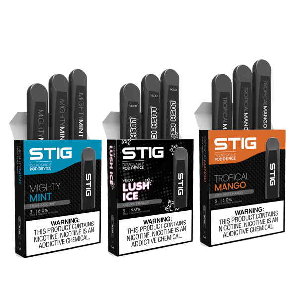 Stig Disposable Pod Device 3 Packs (Total of 9 Disposable Pods)